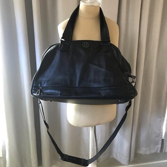 Lululemon Vegan Leather Travel/Gym Shoulder Bag